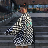"""Vices"" Checkered Jacket"