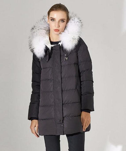 Faux Fox Extended Down Jacket