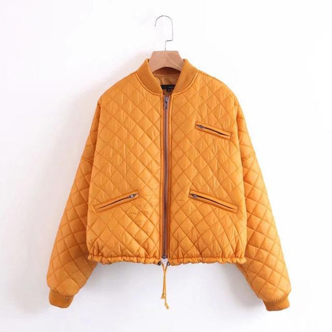 Puffy Bomber Down Jacket