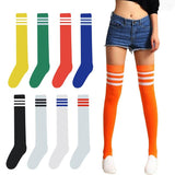 Striped Varsity Thigh Socks