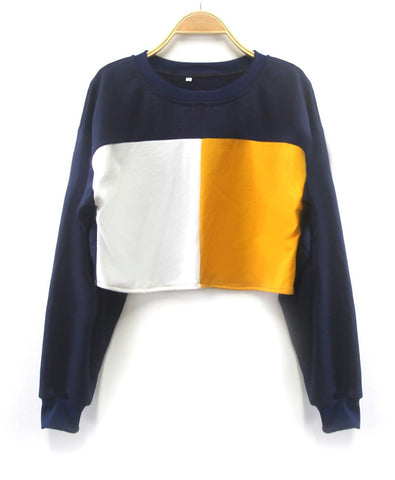 Two Tone Cropped Sweater