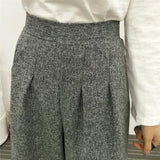 Wide Legged Wool Trousers