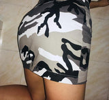 Zip Up Camo Skirt