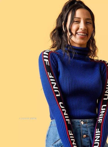 Knitted Sport Turtleneck Sweater