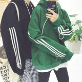 Three Striped Oversized Hoodie