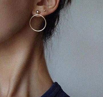 """Perfect Circle"" Earring Studs"