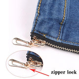 Back Zipper Jeans