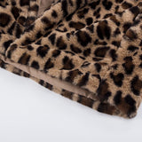 Leopard Vegan Fur Jacket