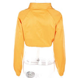 Cropped Orange Nylon Jacket