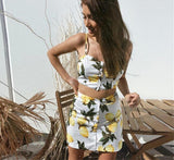 Lemon Cami Top & Skirt (2 Pc Set)