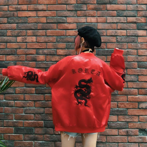 """Korea"" Dragon Bomber Jacket"
