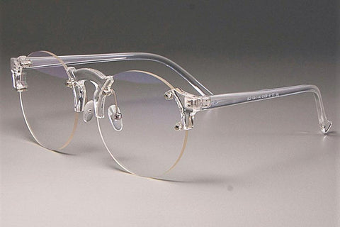 Transparent Round Club Glasses