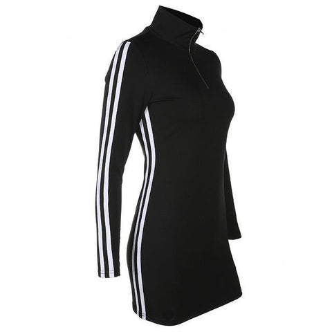 Turtleneck Racer Dress