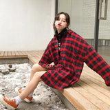 Oversized Flannel Plaid Shirt