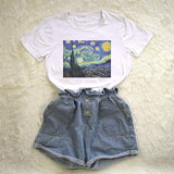 """Starry Night"" Classical Art Tee"