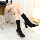 Minimal High Heel Sock Boot