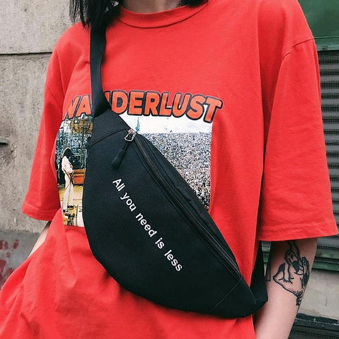 """All You Need Is Less"" Waist Bag"