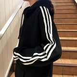 Oversized Striped Hoodie
