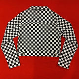 Checkerboard Cropped Jacket