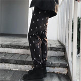 Dollar Sign Printed Sport Trousers