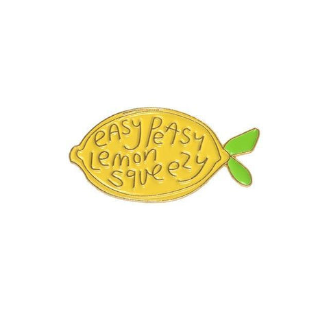 Easy Peasy Lemon Squeezy Enamel Pins