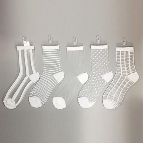 Ultra Thin Glass Silk Socks