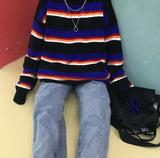 Midnight Knitted Striped Sweater