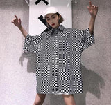 Oversized LSD Checkered Shirt