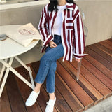 Vertical Striped Buttoned Shirt
