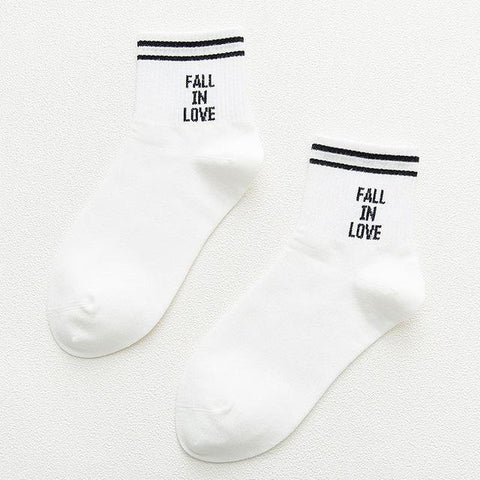 """Fall In Love"" Socks"