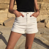 The Perfect High Waisted Denim Short