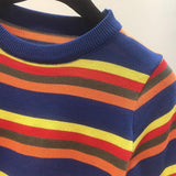 Knitted Retro Striped Top
