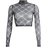 Barbed Wired Meshed Top