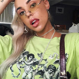 Oversized Neon Angel Tee