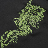 Dragon Embroidered Buckle Crop Top