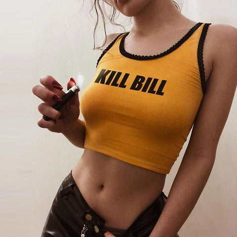"""Kill Bill"" Crop Top"