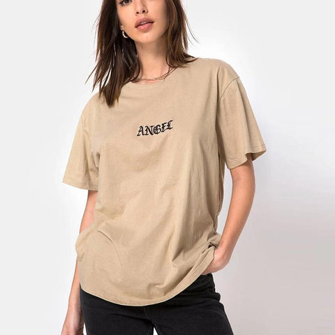 """Angel"" Embroidered Tee"