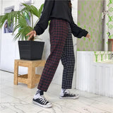 Two Tone Grid Plaid Trousers