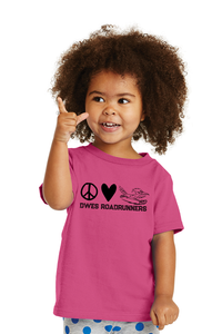 Toddler Peace Love and Roadrunners