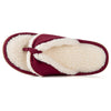 Women's Memory Foam Thong Slipper with Sherpa Lining