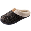 Men's Bouclé Knit Sherpa Lined Slipper