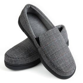 Men's Henry Tartan Fabric Moc Slipper
