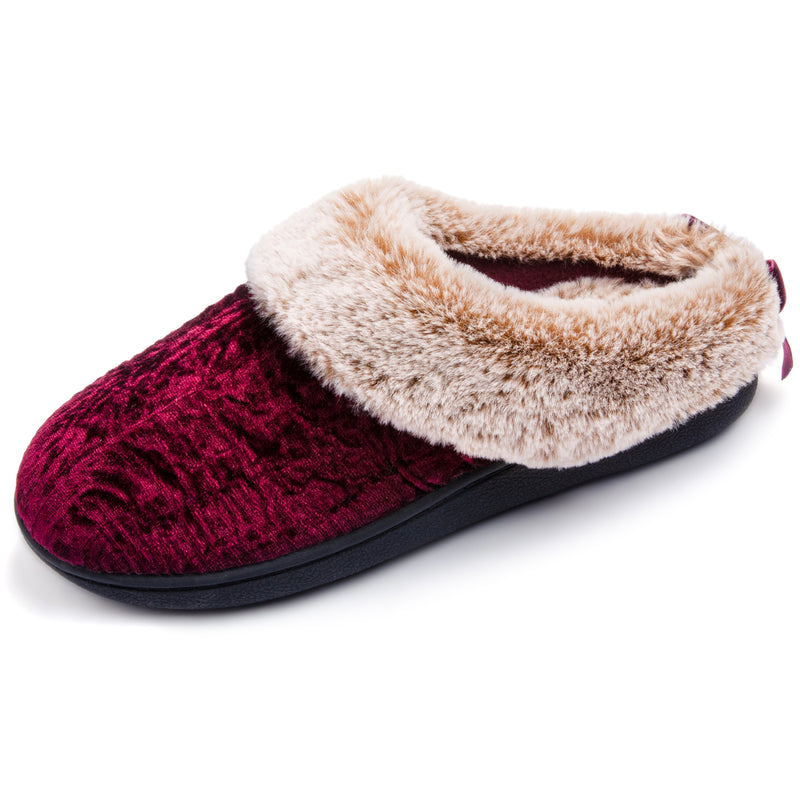 Women's Crinkle Velvet Slip-On with Memory Foam