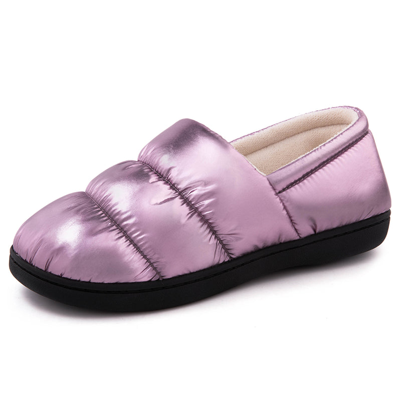 Women's Closed Back Down Camper Memory Foam Slipper with Indoor Outdoor Rubber Sole