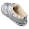 Women's Sherpa Lined Down Hoodback Slipper with Memory Foam