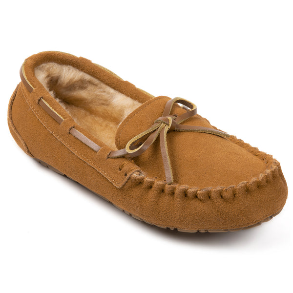 Women's Genuine Suede Leather Moccasin Slippers