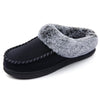 Women's Faux Fur Collar Moc Toe Clog Slipper