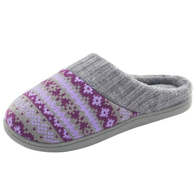 Women's Sweater Knit Hoodback Slipper