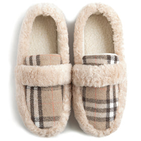 Women's Memory Foam Cozy Fuzzy Fleece Comfy Slippers, Ladies Indoor or Outdoor House Shoes