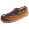 Men's Levi Genuine Leather Wool Lined Moc Slipper